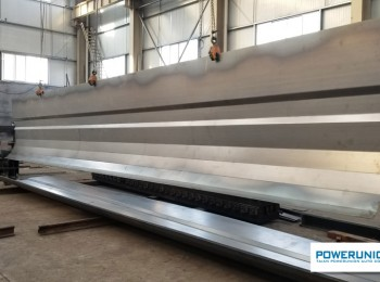 U - type dump semitrailer chassis side plate processing, Transverse reinforcement