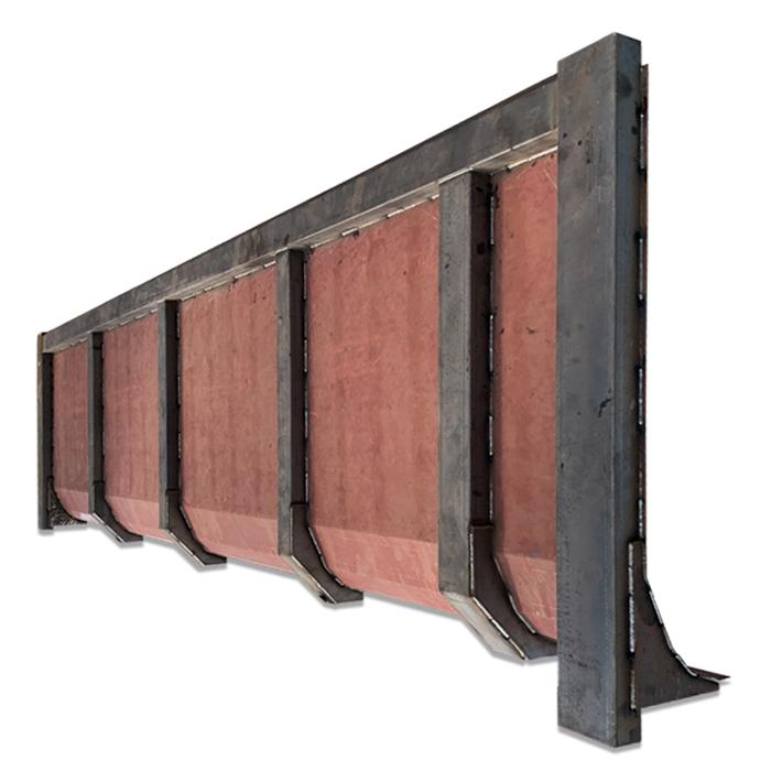 アームロールバッカンを長さ8メートル