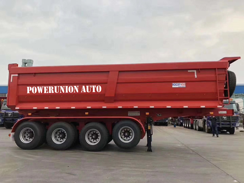 The king of u-type dump semitrailer